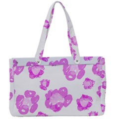 Pink Flower Canvas Work Bag