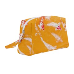 Koi Carp Scape Wristlet Pouch Bag (medium) by essentialimage