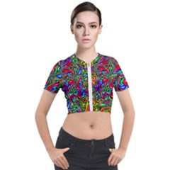 M 9 Short Sleeve Cropped Jacket by ArtworkByPatrick