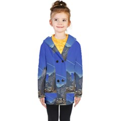 Saturn Landscape Mountains Kids  Double Breasted Button Coat by Simbadda