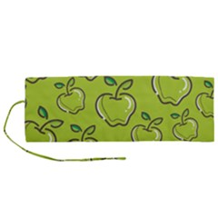 Fruit Apple Green Roll Up Canvas Pencil Holder (m)
