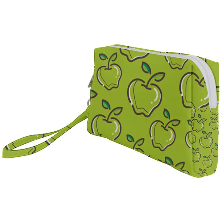 Fruit Apple Green Wristlet Pouch Bag (Small)