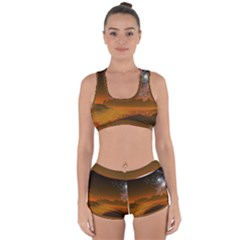 Galaxy Galaxies Bump Together Lava Racerback Boyleg Bikini Set