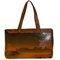Galaxy Galaxies Bump Together Lava Canvas Work Bag