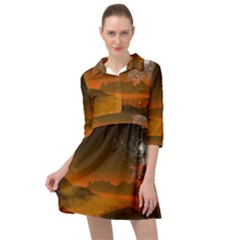 Galaxy Galaxies Bump Together Lava Mini Skater Shirt Dress by Simbadda