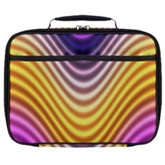 Wave Line Waveform Sound Orange Full Print Lunch Bag