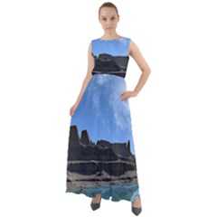 Mountains Galaxy Lake Landscape Chiffon Mesh Boho Maxi Dress