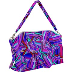 Stars Beveled 3d Abstract Canvas Crossbody Bag