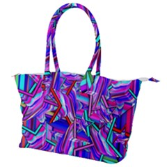 Stars Beveled 3d Abstract Canvas Shoulder Bag