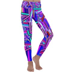 Stars Beveled 3d Abstract Kids  Lightweight Velour Classic Yoga Leggings by Mariart