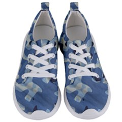 Tarn Blue Pattern Camouflage Women s Lightweight Sports Shoes