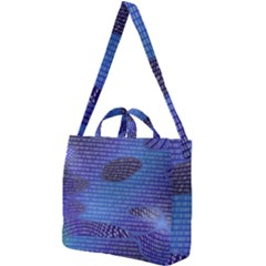 Binary Digitization Null Square Shoulder Tote Bag