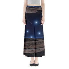 Lunar Landscape Star Brown Dwarf Full Length Maxi Skirt by Simbadda