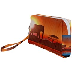 African Background Wristlet Pouch Bag (small)