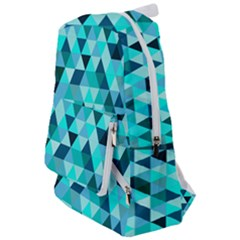 Teal Triangles Pattern Travelers  Backpack by LoolyElzayat