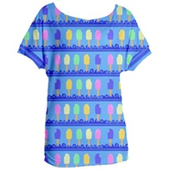 Ice Cream Bar Pattern Women s Oversized Tee by bloomingvinedesign