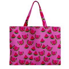 Watermelons Pattern Zipper Medium Tote Bag by bloomingvinedesign
