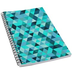 Teal Triangles Pattern 5 5  X 8 5  Notebook by LoolyElzayat