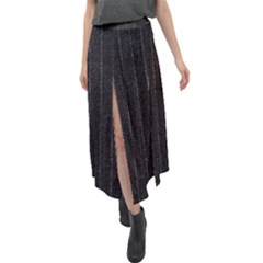 Pinstripe 1 Velour Split Maxi Skirt by designbywhacky