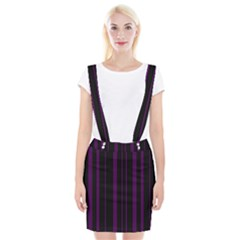 Deep Purple Pinstripe Braces Suspender Skirt by designbywhacky