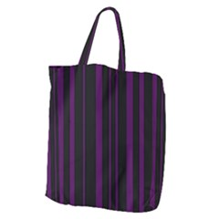 Deep Purple Pinstripe Giant Grocery Tote by designbywhacky