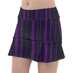 Deep Purple Pinstripe Tennis Skirt by designbywhacky