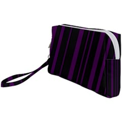 Deep Purple Pinstripe Wristlet Pouch Bag (small)