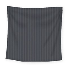 Grey Pinstripe Square Tapestry (large) by designbywhacky