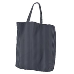 Grey Pinstripe Giant Grocery Tote by designbywhacky