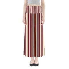 Burgundy Pinstripe Full Length Maxi Skirt by designbywhacky