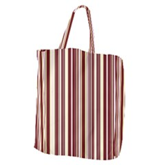 Burgundy Pinstripe Giant Grocery Tote by designbywhacky