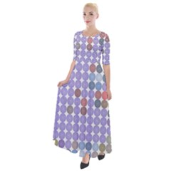 Zappwaits Spirit Half Sleeves Maxi Dress