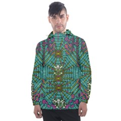 The Most Beautiful Rain Over The Stars And Earth Men s Front Pocket Pullover Windbreaker by pepitasart