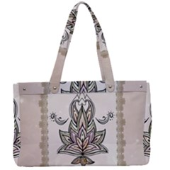 Elegant Decorative Mandala Design Canvas Work Bag