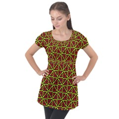N 7 Puff Sleeve Tunic Top by ArtworkByPatrick