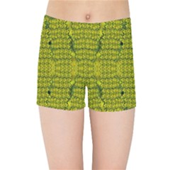 Flowers In Yellow For Love Of The Decorative Kids  Sports Shorts by pepitasart