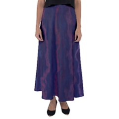 Smudgy Lines Flared Maxi Skirt by designbywhacky