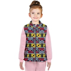 Rectangles And Other Shapes Pattern                                   Kid s Puffer Vest