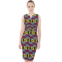 Rectangles And Other Shapes Pattern                                      Midi Bodycon Dress