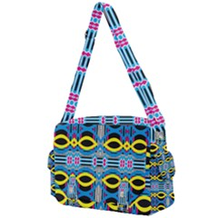 Yellow And Blue Ovals                                  Buckle Multifunction Bag by LalyLauraFLM