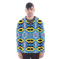 Yellow And Blue Ovals                                     Mesh Lined Wind Breaker (men) by LalyLauraFLM