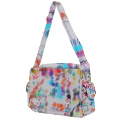 Paint Splashes Canvas                                   Buckle Multifunction Bag by LalyLauraFLM
