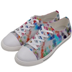 Paint Splashes Canvas                                     Women s Low Top Canvas Sneakers by LalyLauraFLM