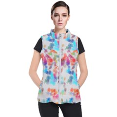 Paint Splashes Canvas                                     Women s Puffer Vest