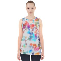 Paint Splashes Canvas                                      Cut Out Tank Top
