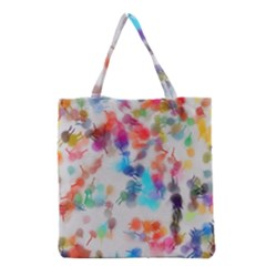 Paint Splashes Canvas                                      Grocery Tote Bag by LalyLauraFLM