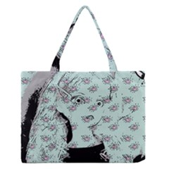 Wide Eyed Girl Zipper Medium Tote Bag by snowwhitegirl