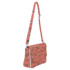 Fruit Apple Shoulder Bag With Back Zipper