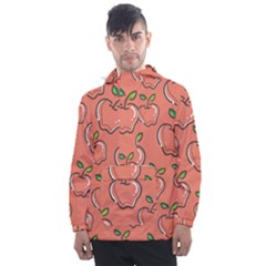 Fruit Apple Men s Front Pocket Pullover Windbreaker