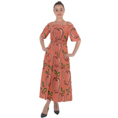 Fruit Apple Shoulder Straps Boho Maxi Dress  by HermanTelo